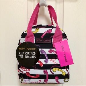 📞 NWT Betsey Johnson Insulated Lunch Tote Phones